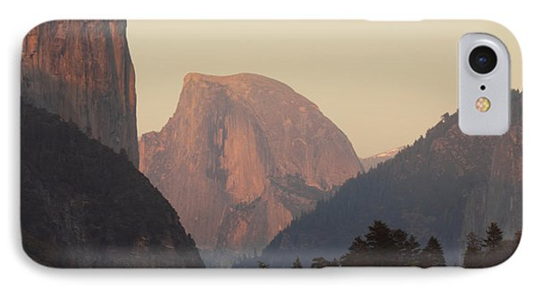 Half Dome Rising In Distance IPhone Case by Max Allen