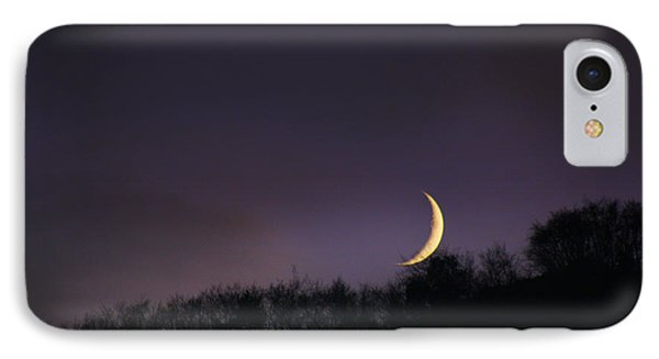 IPhone Case featuring the photograph Half Moon by Martina  Rathgens