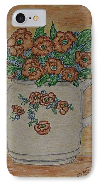 Hall China Orange Poppy And Poppies IPhone Case
