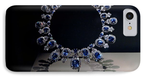 Hall Sapphire And Diamond Necklace Phone Case by LeeAnn McLaneGoetz McLaneGoetzStudioLLCcom