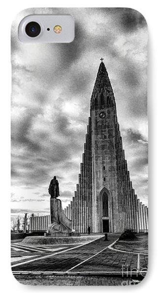 IPhone Case featuring the photograph Hallgrims Kirkja Iceland by Rick Bragan