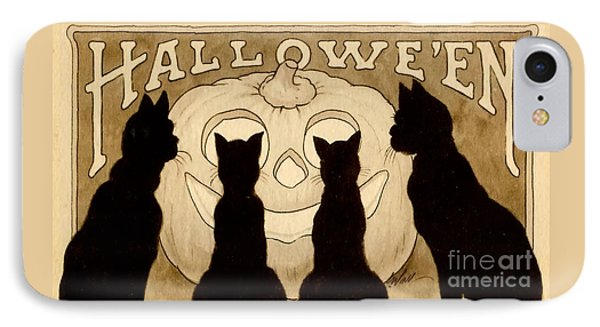 Halloween Card IPhone Case by American School