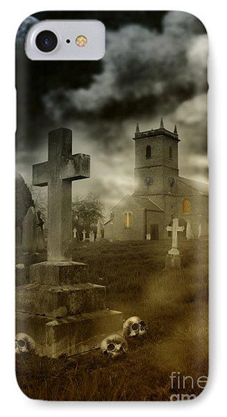 Halloween Churchyard IPhone Case