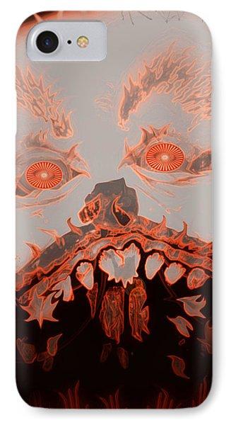 Halloween Devil Phone Case by Linda Galok