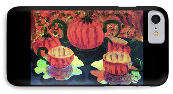 IPhone Case featuring the painting Halloween Holidays by Donald J Ryker III
