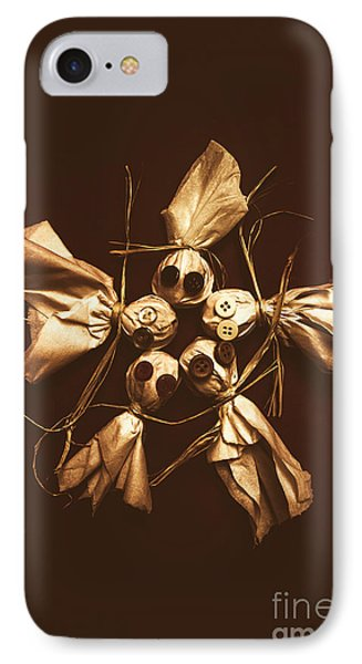 Halloween Horror Dolls On Dark Background IPhone Case by Jorgo Photography - Wall Art Gallery