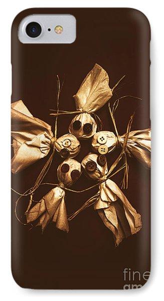 Halloween Horror Dolls On Dark Background IPhone Case