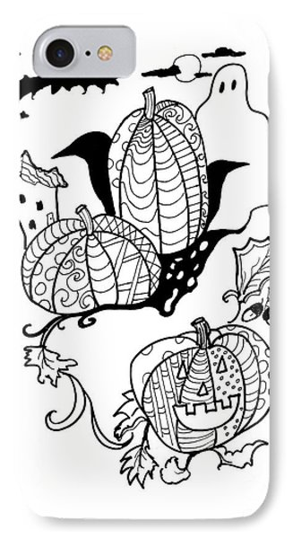 Halloween Ink Coloring Book Image IPhone Case