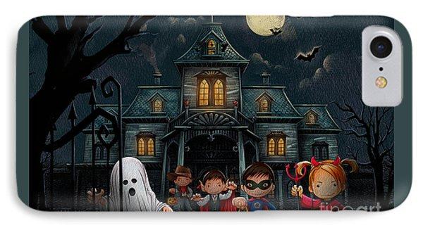 Halloween Kids Night IPhone Case by Bedros Awak