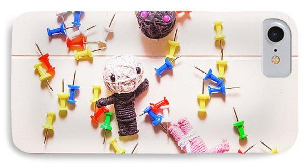 Punishment iPhone 7 Case - Halloween Monster Voodoo Dolls by Jorgo Photography - Wall Art Gallery