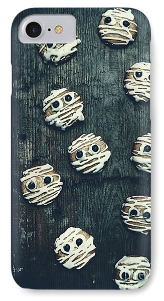 Halloween Mummy Cookies IPhone Case by Jorgo Photography - Wall Art Gallery