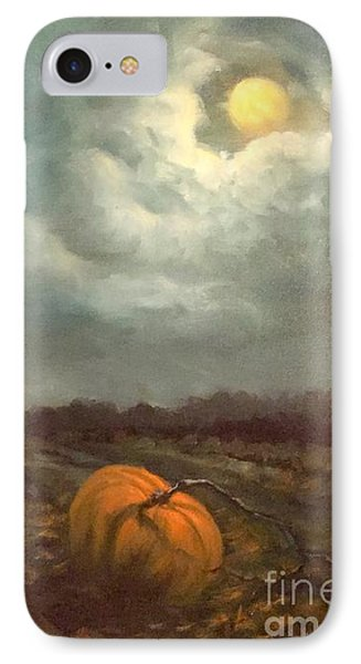 Halloween Mystery Under A Star And The Moon IPhone Case by Randy Burns