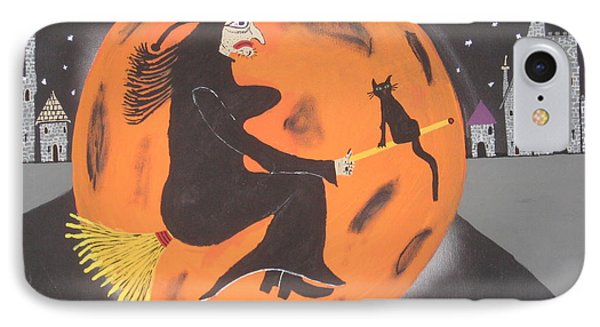 IPhone Case featuring the painting Halloween Night At Disneyland by Jeffrey Koss