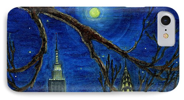 Halloween Night Over New York City Phone Case by Anna Folkartanna Maciejewska-Dyba