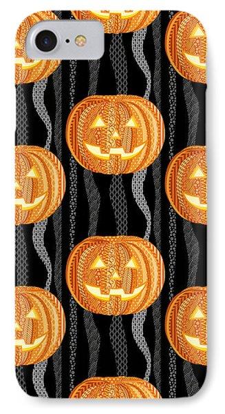 Halloween Pattern IPhone Case by Veronica Kusjen