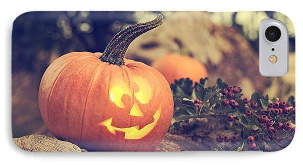 Halloween Pumpkin IPhone Case by Amanda Elwell
