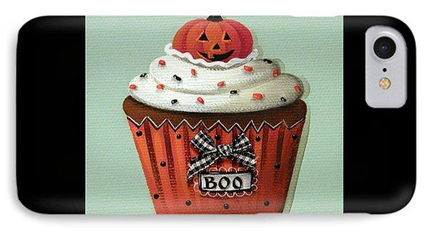 Halloween Pumpkin Cupcake Phone Case by Catherine Holman