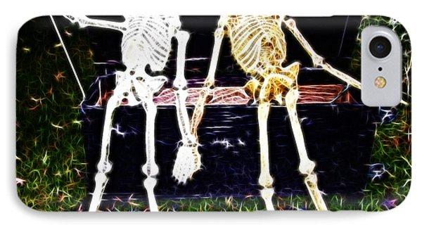 Halloween Skeleton Couple IPhone Case by Darleen Stry