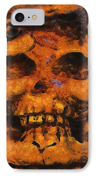 Halloween Skull IPhone Case by Sarah Kirk