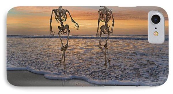 Halloween Stroll IPhone Case by Betsy Knapp