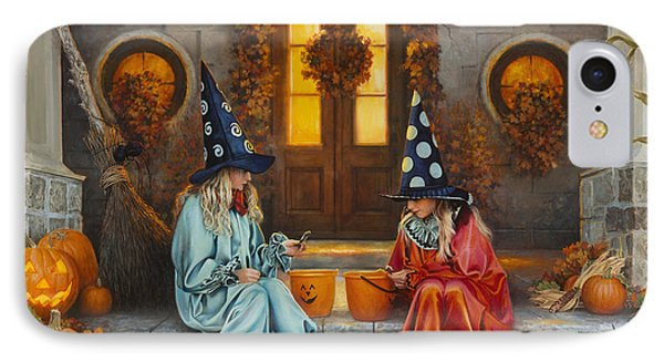 Halloween Sweetness IPhone Case by Greg Olsen