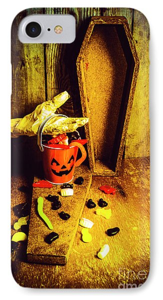 Halloween Trick Of Treats Background IPhone Case by Jorgo Photography - Wall Art Gallery