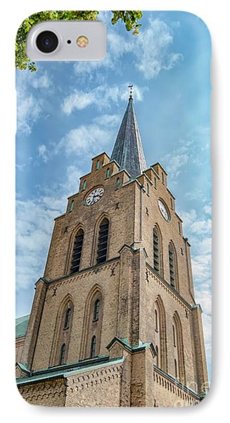 IPhone Case featuring the photograph Halmstad Church In Sweden by Antony McAulay