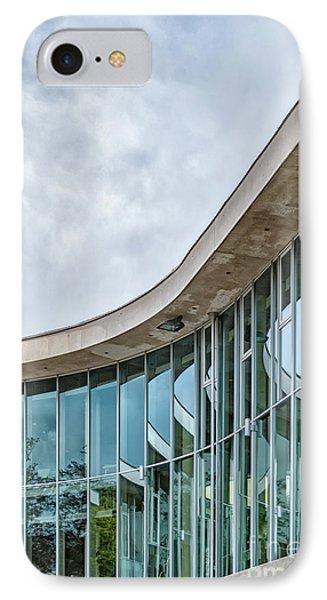 IPhone Case featuring the photograph Halmstad University Labrary Detail by Antony McAulay