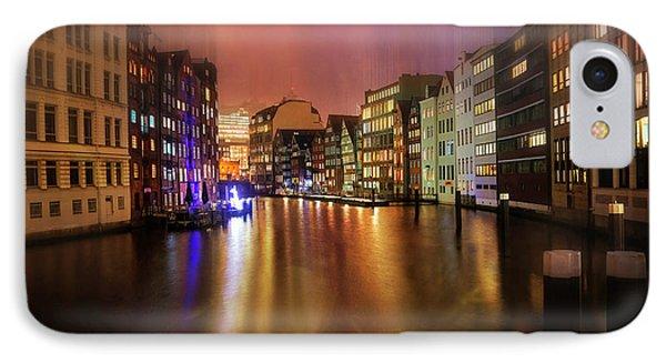 Hamburg By Night  IPhone Case by Carol Japp