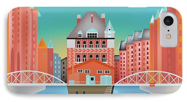 Hamburg, Germany Horizontal Skyline IPhone Case