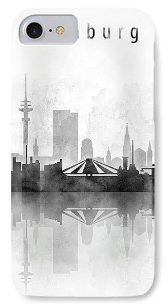 Hamburg Skyline Black And White IPhone Case