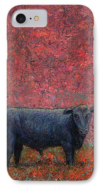 Bull iPhone 7 Case - Hamburger Sky by James W Johnson