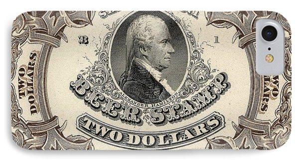 Hamilton Beer Revenue Stamp  Hogshead  IPhone Case by Jon Neidert