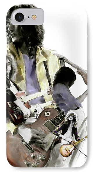 Hammer Of The Gods   Jimmy Page IPhone 7 Case by Iconic Images Art Gallery David Pucciarelli