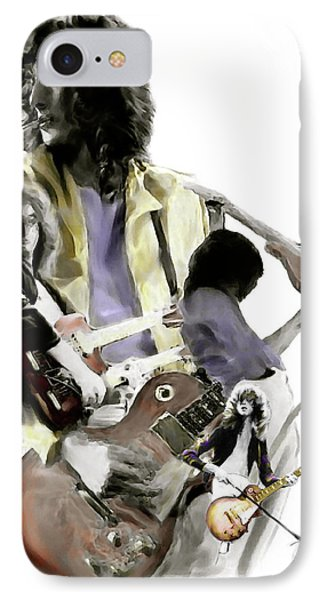 Hammer Of The Gods   Jimmy Page IPhone Case by Iconic Images Art Gallery David Pucciarelli