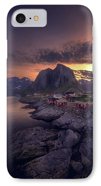 Hamnoey Sunset IPhone Case by Tor-Ivar Naess