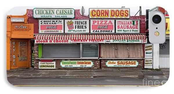 Hampton Beach Food Vendors IPhone Case by Edward Fielding