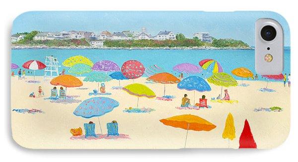 Hampton Beach Umbrellas IPhone Case by Jan Matson