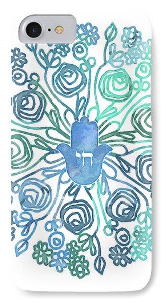 Hamsa Mandala 1- Art By Linda Woods IPhone Case