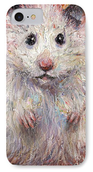Hamster Painting  IPhone Case by Svetlana Novikova