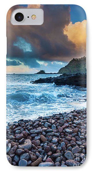 Hana Bay Pebble Beach IPhone Case by Inge Johnsson