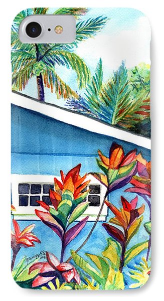 Hanalei Cottage IPhone Case by Marionette Taboniar