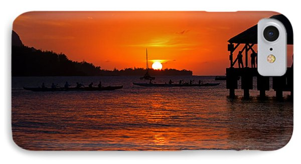 Hanalei Sunset Phone Case by Mike  Dawson