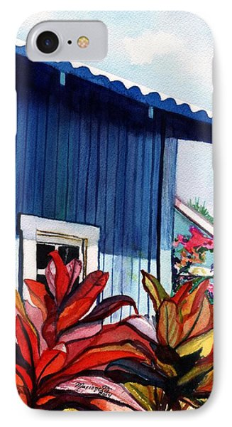 Hanapepe Town IPhone Case by Marionette Taboniar