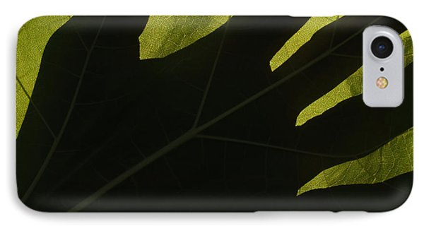 Hand And Catalpa Veins Backlit Phone Case by Anna Lisa Yoder