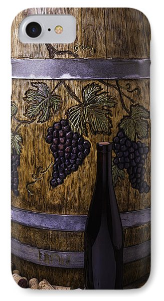 Hand Carved Wine Barrel IPhone Case
