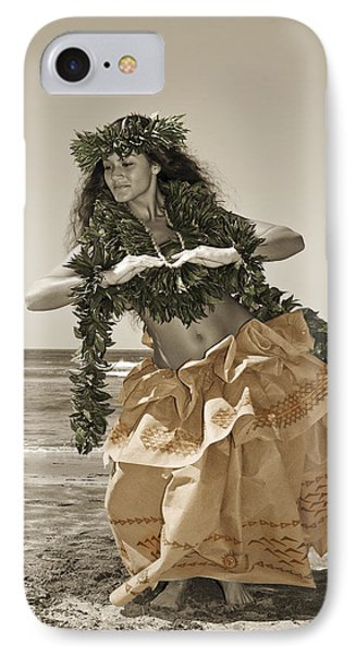 Hand Colored Hula Phone Case by Himani - Printscapes