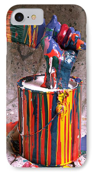 Hand Coming Out Of Paint Can IPhone Case