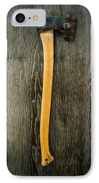 Tools On Wood 11 IPhone Case by Yo Pedro
