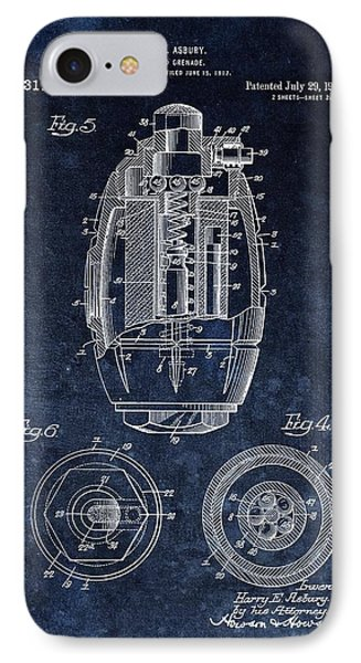 Hand Grenade Patent Drawing IPhone Case